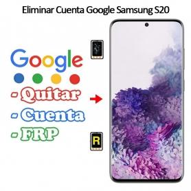 Eliminar Cuenta Google Samsung galaxy S20
