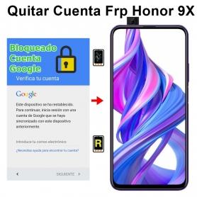 Eliminar Cuenta Google Honor 9X