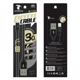 LT PLUS B7007 Cable Lightning 2.4A 30CM Negro