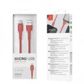 WOOX WB3045 Cable Micro USB V8 2A 1M Rojo