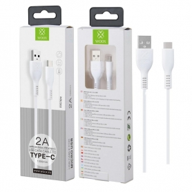 WOOX WB2360 Cable TYPE-C 2A 1M Blanco