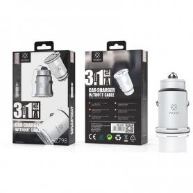 WOOX WA2798 Cargador Para Coche Sin Cable 3.1A Blanco