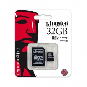 KINGSTON Micro SD De 32GB Clase 10 45MB/S