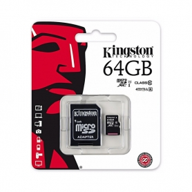 KINGSTON Micro SD De 64GB Clase 10 45MB/S
