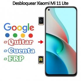 Eliminar Contraseña y Cuenta Google Xiaomi Mi 11 Lite