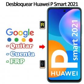 Eliminar Contraseña y Cuenta Google Huawei P Smart 2021