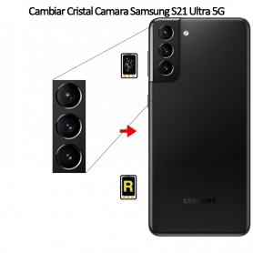 Cambiar Cristal Cámara Trasera Samsung Galaxy S21 Ultra 5G
