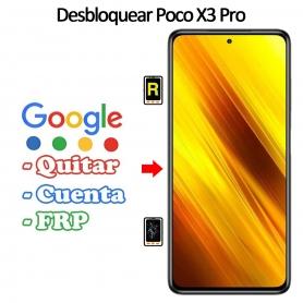 Eliminar Contraseña y Cuenta Google Xiaomi Poco X3 Pro