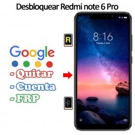 Eliminar Contraseña y Cuenta FRP Xiaomi Xiaomi Redmi Note 6 Pro