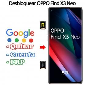 Eliminar Contraseña y Cuenta Google Oppo Find X3 Neo