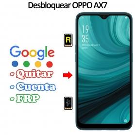 Eliminar Contraseña y Cuenta Google Oppo AX7