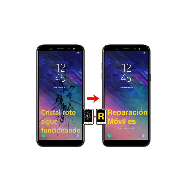 Cambiar Cristal Samsung A6 (2018)