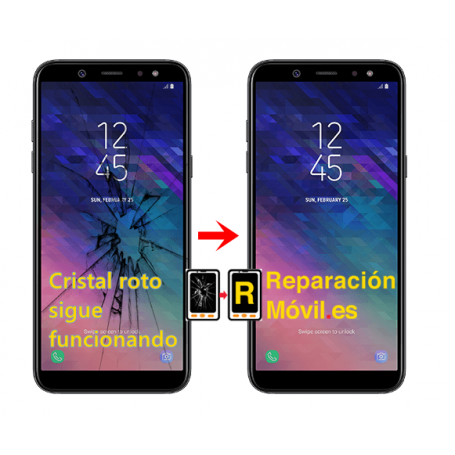 Cambiar Cristal Samsung A6 plus A605