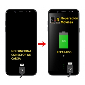 Cambiar Conector de carga Samsung A6 plus (2018)