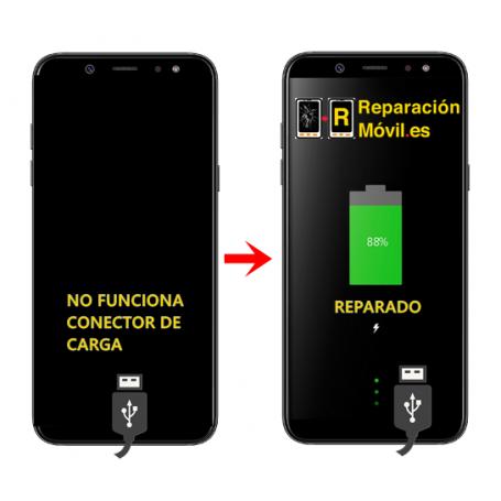 Cambiar Conector de carga Samsung A6 plus