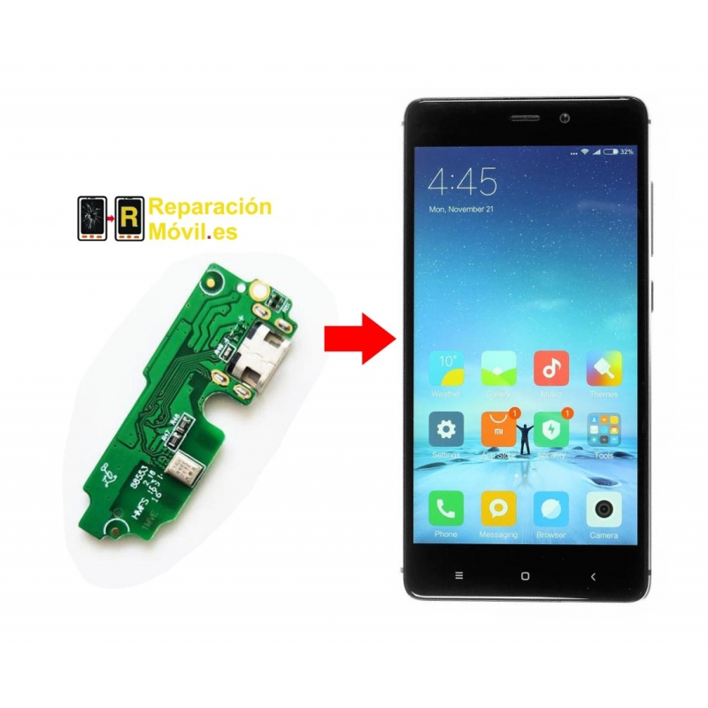 Cambiar Conector de carga Xiaomi Redmi 4