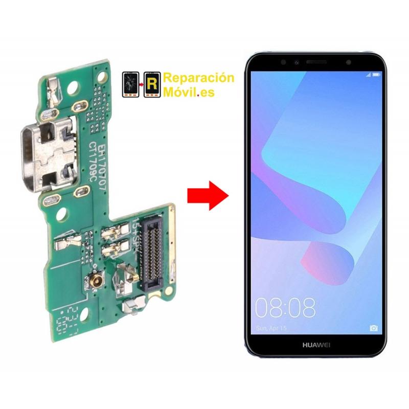 Cambiar Conector de Carga Huawei Y6 Pro 2017