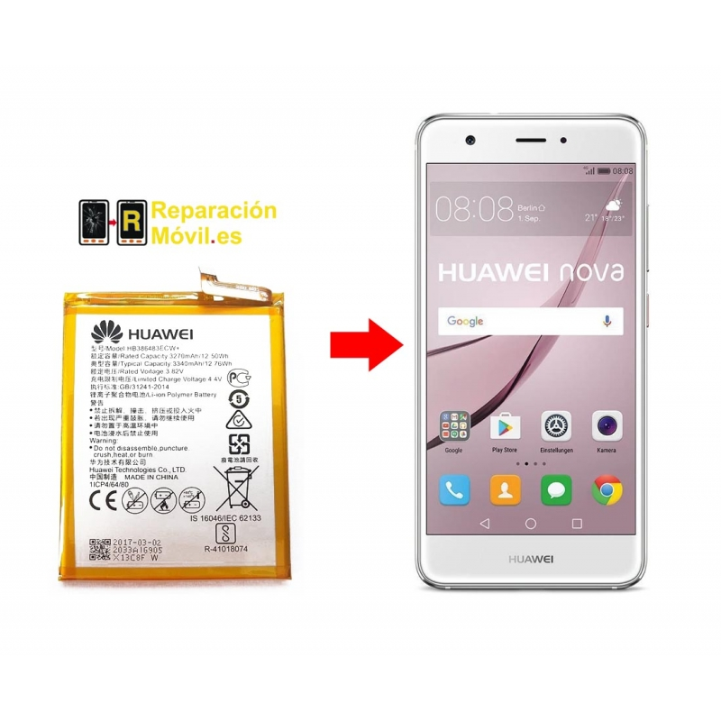 Cambiar Batería Huawei Nova Plus