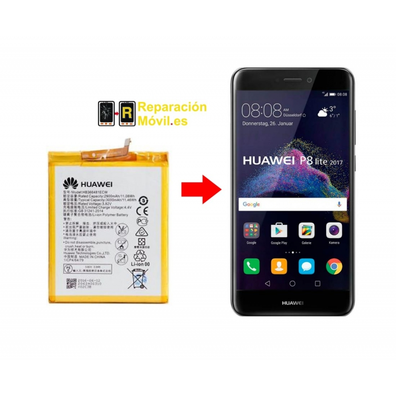 Cambiar batería Huawei P8 Lite 2017
