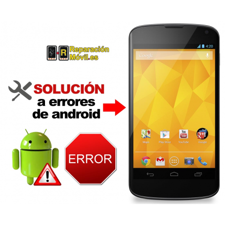 Solución Sistema Error LG NEXUS 4