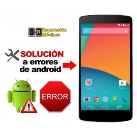 Solución Sistema Error LG NEXUS 5