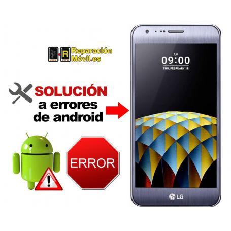 Solución Sistema Error LG X CAM