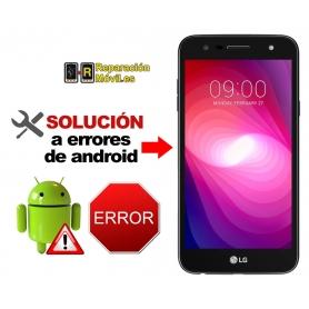Solución Sistema Error LG X POWER 2