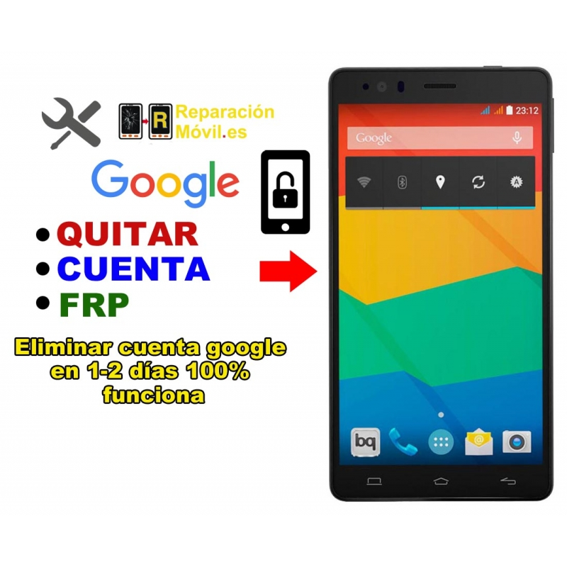 Eliminar Cuenta Google BQ E6