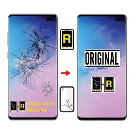 Cambiar Cristal de Pantalla Samsung S10 Plus SM-G975
