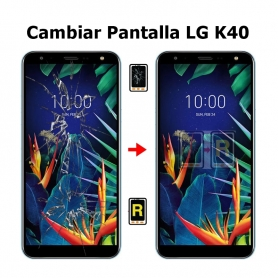 Cambiar Pantalla LG K40 X420EMW