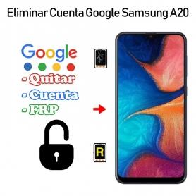 Eliminar Cuenta Google Samsung Galaxy A20