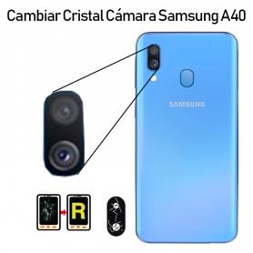 Cambiar Cristal Cámara Trasera Samsung Galaxy A40