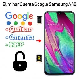 Eliminar Cuenta Google Samsung Galaxy A40