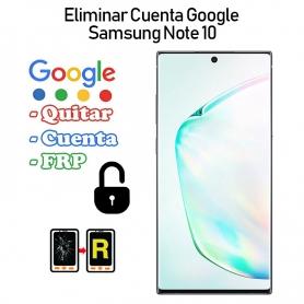 Eliminar Cuenta Google Samsung Galaxy Note 10 SM-N970F