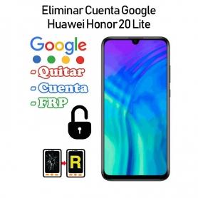 Eliminar Cuenta Google Honor 20 Lite