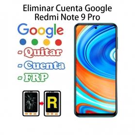 Eliminar Cuenta Google Xiaomi Redmi Note 9 Pro