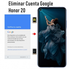 Eliminar Cuenta Google Honor 20