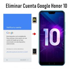 Eliminar Cuenta Google Honor 10