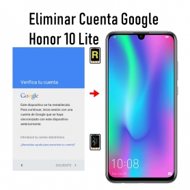 Eliminar Cuenta Google Honor 10 Lite