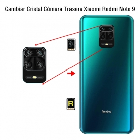 Cambiar Cristal Cámara Trasera Xiaomi Redmi Note 9