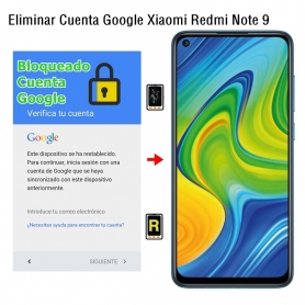 Eliminar Cuenta Google Xiaomi Redmi Note 9