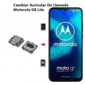 Cambiar Auricular De Llamada Motorola G8 Lite
