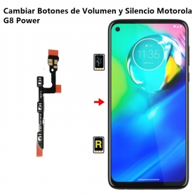 Cambiar Botones de Volumen y Silencio Motorola G8 Power