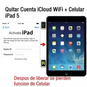 Quitar Cuenta iCloud WiFi + Celular iPad 5