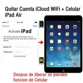 Quitar Cuenta iCloud WiFi + Celular iPad Air