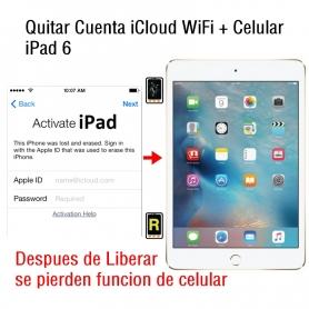 Quitar Cuenta iCloud WiFi + Celular iPad 6