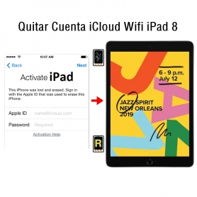 Quitar Cuenta iCloud Wifi iPad 8