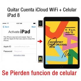 Quitar Cuenta iCloud WiFi + Celular iPad 8