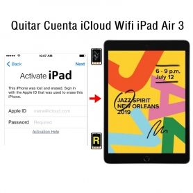 Quitar Cuenta iCloud Wifi iPad Air 3