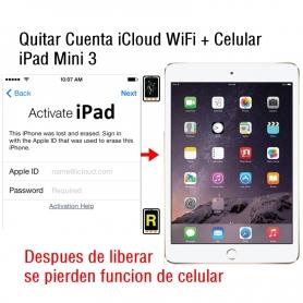 Quitar Cuenta iCloud WiFi + Celular iPad Mini 3